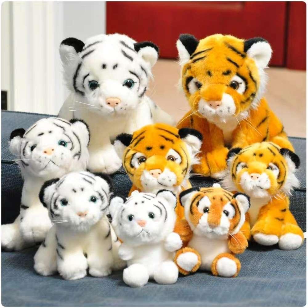 Pequeño tigre peluche juguete dinero zoológico gigante panda leopard muñeca regalo de souvenir