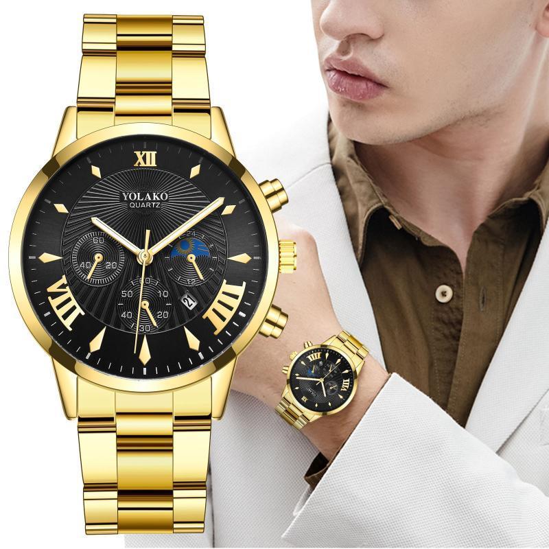 Orologi da uomo Yolako Orologi al quarzo Moda al quarzo Cinturino a maglia per uomo Sport Watch Clockmale Lusso 2021 Relogio Masculino