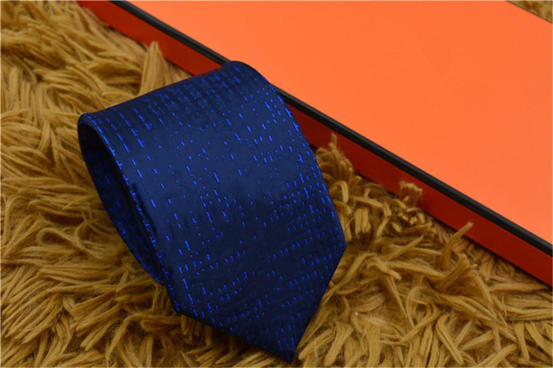 Marca de moda Gravata masculina Top Designer de alta qualidade Business Business Tie Wood Wedding Gift Gravata Gravata 8cm Caixa de Presente Embalagem
