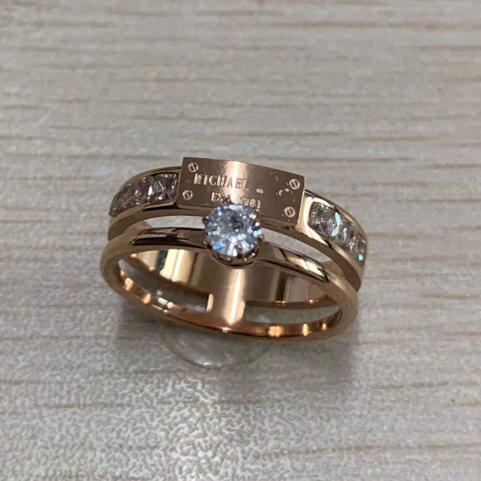 316L التيتانيوم الصلب الأظافر حلقات عشاق عصا حلقات حجم 6،7،8،9 للنساء والرجال الماس الزفاف مجوهرات هدية مربع اختياري