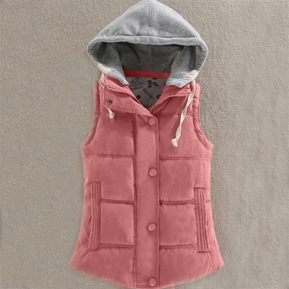 Autumn Winter Women Sleeveless Hooded Jacket Warm Thicken Down Cotton Vest Coat Female Short Waistcoat Parka Plus Size 6XL A1616