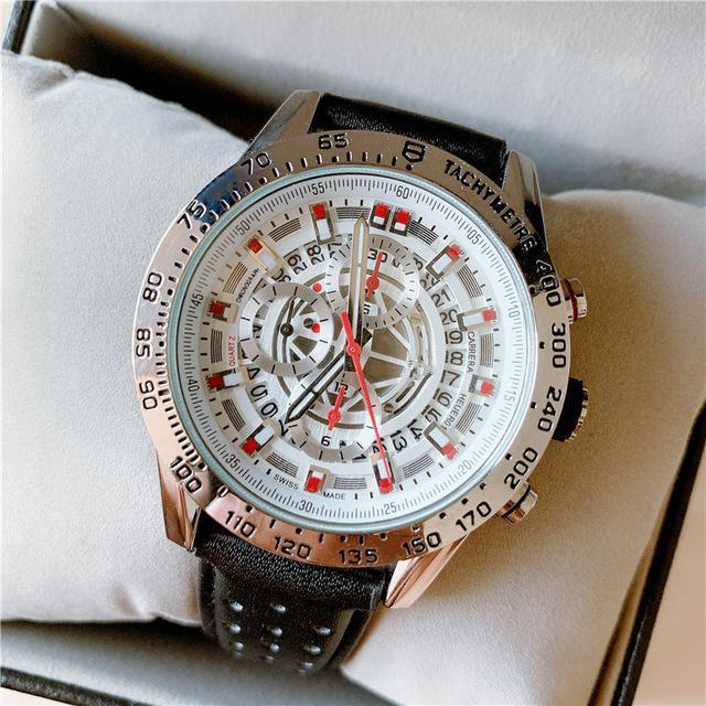 Наручные часы Кожаные Мода Водонепроницаемый Кварцевые Часы Для Мужской Полная функция Часы Top Мужской Дата Часы Relogio Masculino
