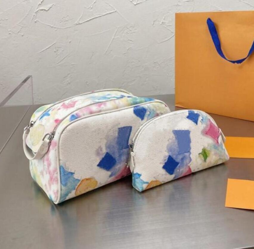 【OCTEU03】2 pezzi di alta qualità moda donna lavata borsa grande capacità sacchetti cosmetici trucco borse da toeletta borse da uomo borsa da viaggio borse da viaggio