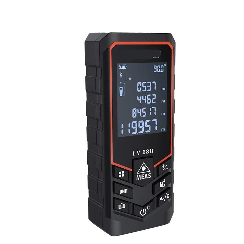 Freeshipping Bluetooth Laser Distance Compteur USB Rechargeable Digital Laser RangeFinder de poche 120m 100m 80m 50m Nivellement électrique