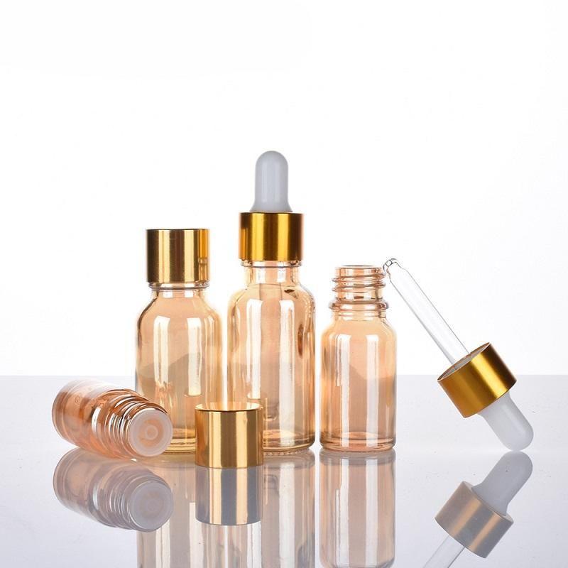 Lagerflaschen Gläser Leerer 5ml ~ 100 ml Glas Troppfe Flasche Make-up Ätherische Ölverpackung Reise Nachfüllbare kosmetische Lucifuge mit Plug 30P