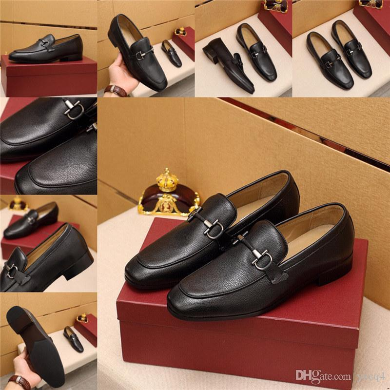 Q4 Dropshipping 남자 럭셔리 드레스 신발 큰 크기 38-45 패치 워크 화이트 블루 브라운 캐주얼 공식 신발 디자이너 브리트 티피 남성 아파트 11
