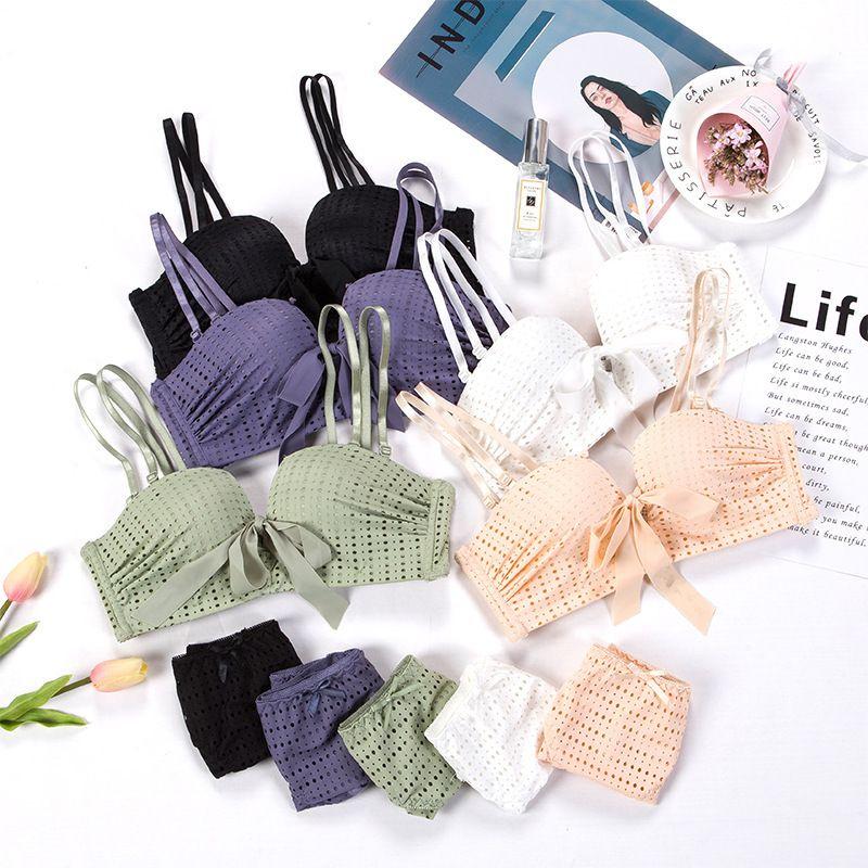 2021 reggiseno sexy set moda coreano moda pizzo biancheria intima ragazza dot mutandine da donna push up brassiere femminile lingerie set