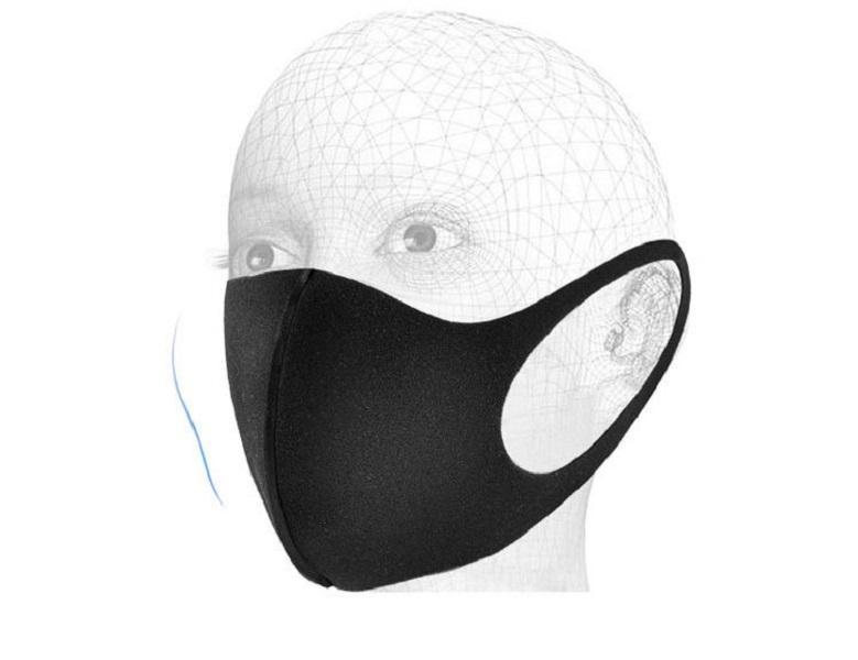 Cara Reutilizable Hielo Mascarillas de algodón de seda anti-polvo Cubierta de boca PM2.5 Respirador Resumen de polvo Lavable para adultos Mascarilla de cara