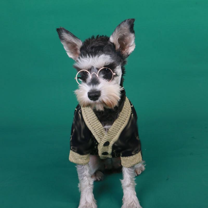 Vintage lettre Imprimer Porte-chiens Pull pour chien Sport intérieur Sport chaud Teddy manteau hiver branchée bouledog bichon veste vêtements