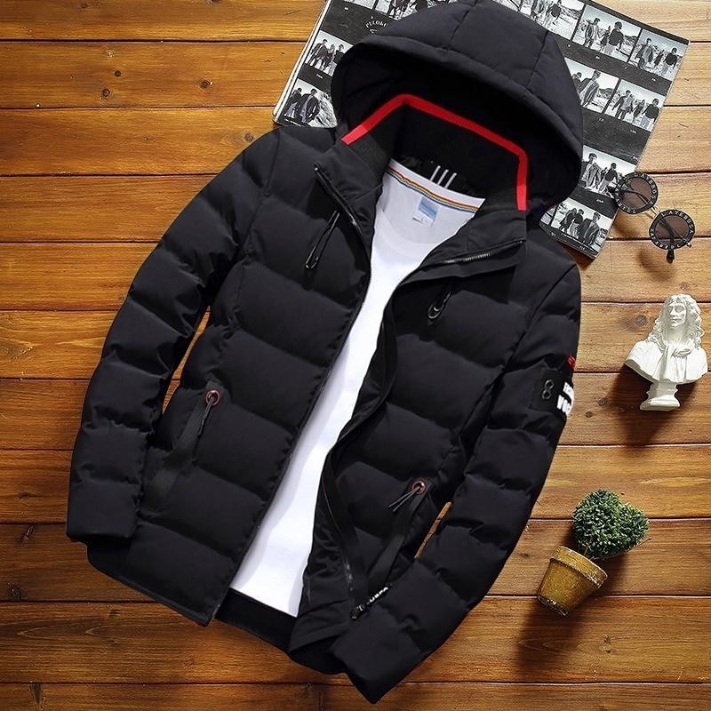 Hommes Hiver Veste Manteau Nouveau Mode Capuche Chaud Hommes Educamroof Parka Casual Slim Fit Jeunes Manteaux Masculin Howoat Drop Expédition 210222