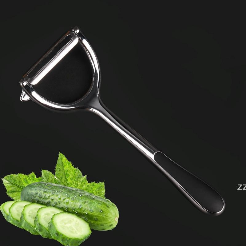 Fruit Vegetable Peelers Kitchen Tools White Nickel Plated Zinc Alloy PotatoApple Peeler Ergonomic Non Slip Handle Sharp Blade Carrot HWF7360