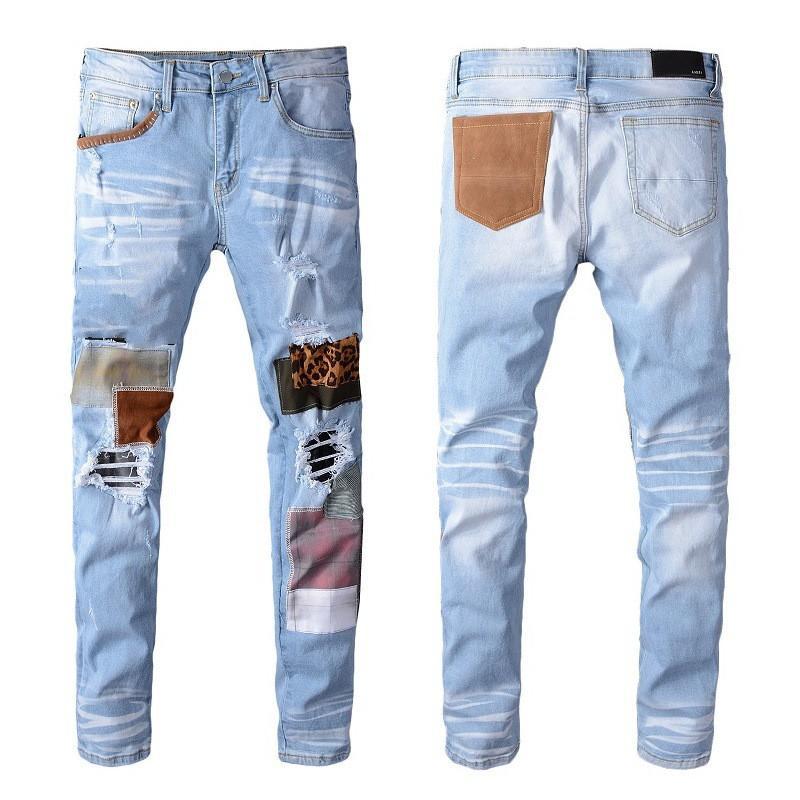 رجل مصمم جينز مستقيم يتأهل السائق الفاخرة ممزق الدنيم الدنيم الملابس 2021 سستة عارضة الهيب هوب الذكور الملابس