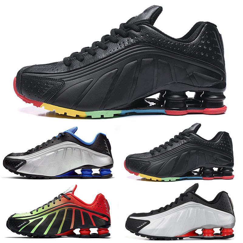 Shox R4 OG طفل رضيع العلامة التجارية الكلاسيكية روننينغ أحذية OG الذكرى بنين بنات أحذية رياضية ثلاثية الأسود الأطفال مصمم أحذية رياضية المدربين التنس