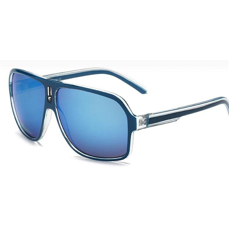جودة عالية مصمم العلامة التجارية C-18 النظارات الشمسية أزياء الرجال النساء uv حماية الرجعية نظارات رياضية خمر نظارات الشمس مع القضية