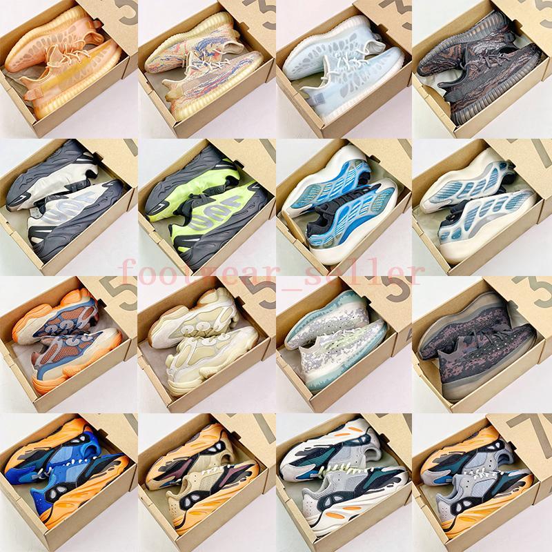 Designer Schuhe 500 V2 Schuh 700 V3 Luxusmarken Casual Dress Sneakers Wash Orange Enflame Amber Mono Ice Kyanite Platform Trainer 36-46