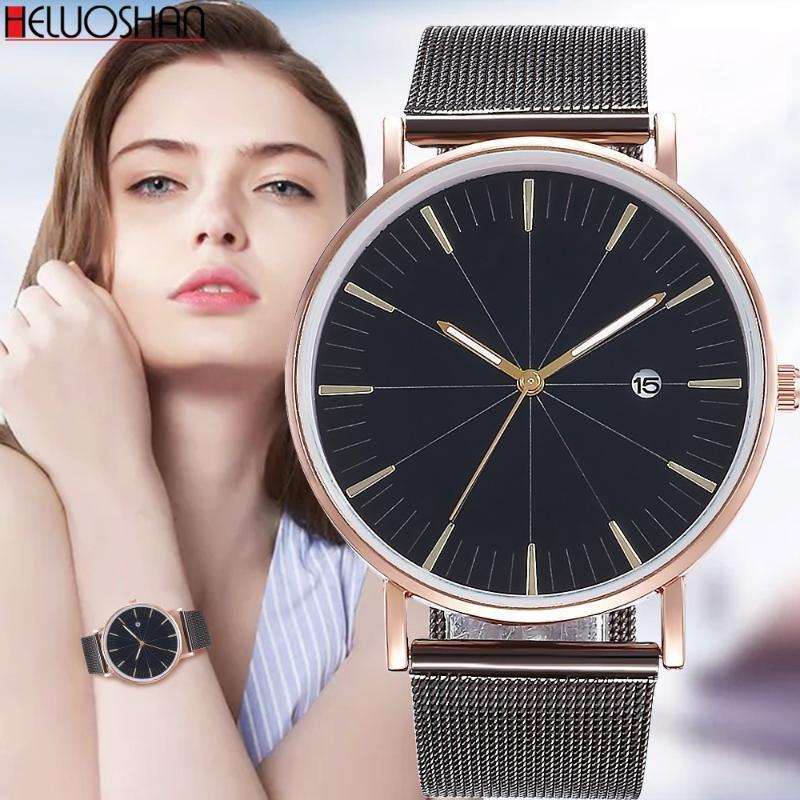 Armbanduhren Herren Watch Slim Mode Minimalistische Lünette Luxus Mesh Neutral Business Casual Simple Classic Quarz Analog Armband