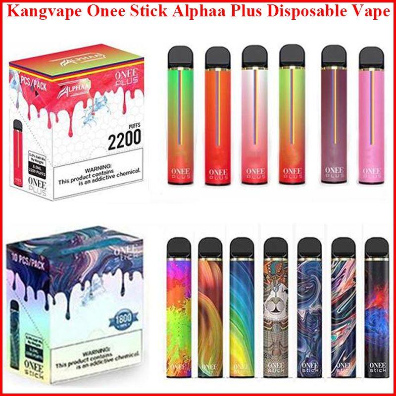 Kangvape Onee Stick Alphaa Plus Cigarettes Cigarettes Vape Pen Kit 1100MAH 1800 1900 2200 Загонией 6,2 млн. Картридж POD