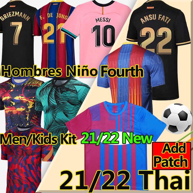 Ansu Fati Barcelona Soccer Jerseys 2020 21 Camiseta de Futbol Maradona Messi Griezmann de Jong COUTINIHO Herren Kids Kit Football Hemd