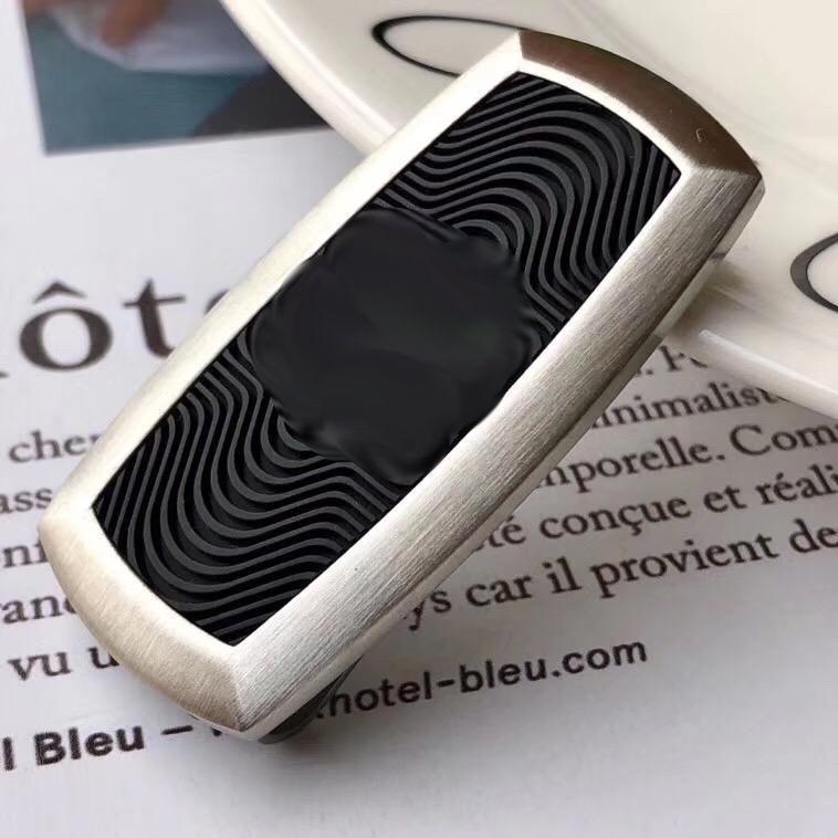 Fashion Money Clip Cadre en acier inoxydable Noir Caoutchoule MoneyClips pour hommes et femmes Non Boîte