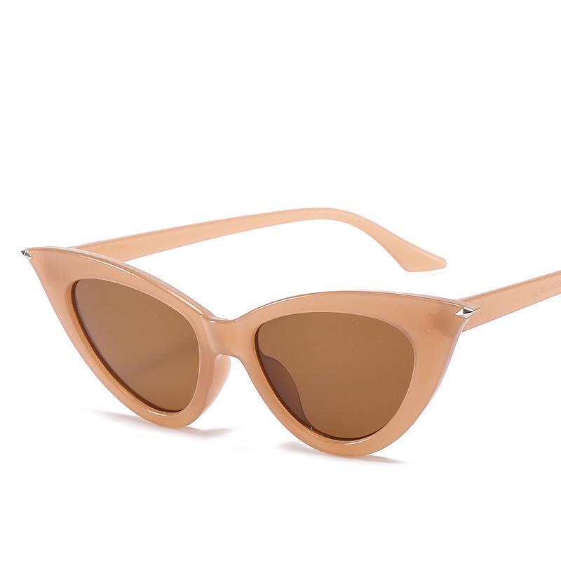 Yeni Kişilik Kedi Göz Güneş Gözlüğü Trendy Küçük Çerçeve Kolaylaştırılmış Gözlükler Kadın Çapraz Sınır Sokak Çekim Gözlük