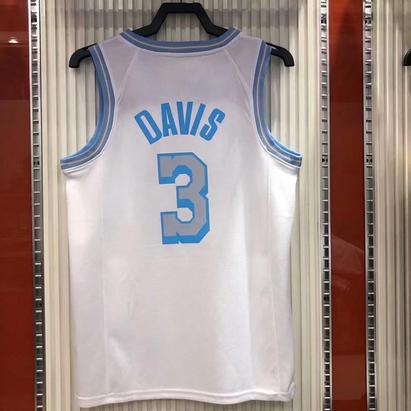 Hızlı Kuru 2021 Şehir Versiyonu Beyaz Isı Basın Basketbol Forması 3 Davis Kuzma Hiçbir Kol Yelek Gömlek O-Boyun Tasarım