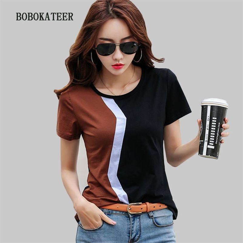 BOBOKATEER CAMISETAS MUJER VERANO WALK T-футболка женская одежда плюс размер футболки женщины футболки летние топы футболка Tee Femme 210315