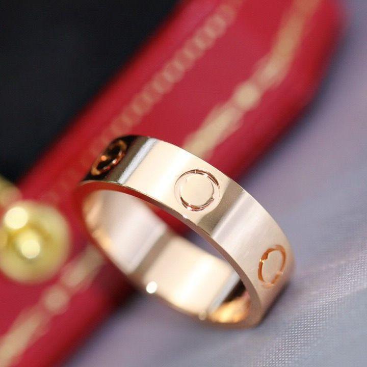 Motif de vis amour doré argent titane acier diamant bague bague hommes et femmes mariage couple de vacances amoureux cadeau bijoux pas fondue