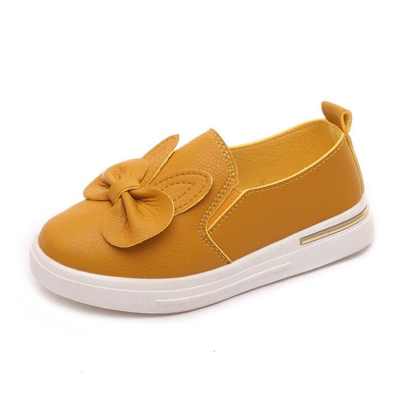 Cuzullaa calidad otoño lindo conejo zapatillas de deporte zapatos princesa zapatos niños skate zapatos niñas zapato de deporte plano 4 color 210309