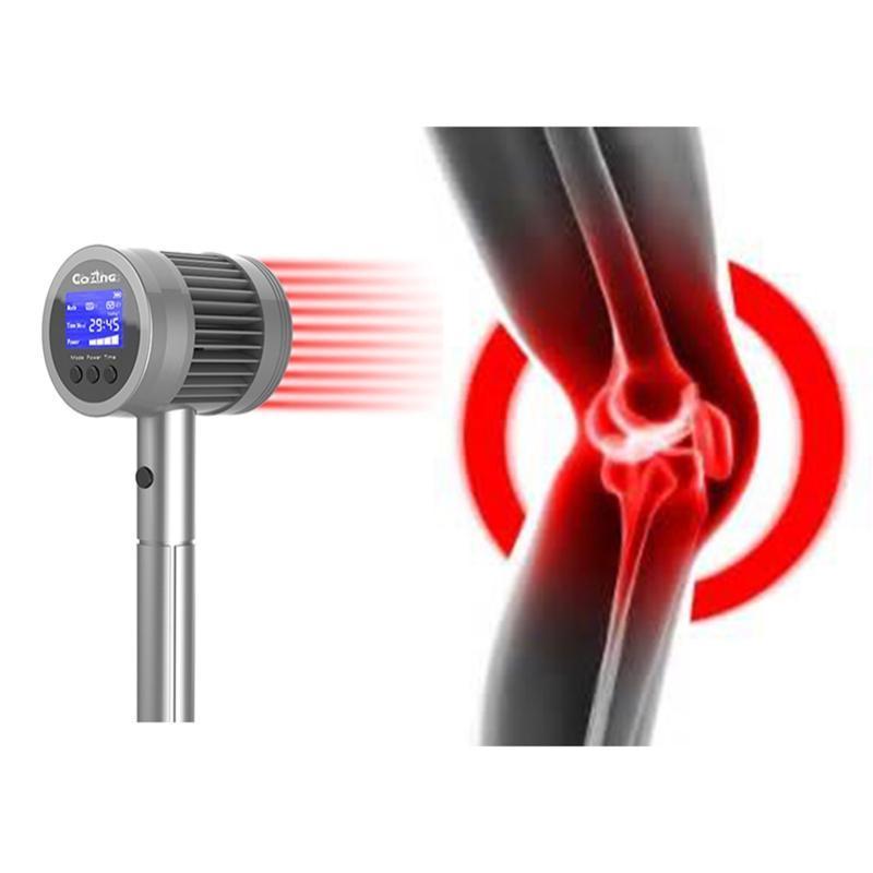 Massagers eléctricos Massager de mano Dispositivo de acupuntura Máquina de alivio del dolor con láser LLLT 808NM y 650NM Tratamiento de terapia de luz roja