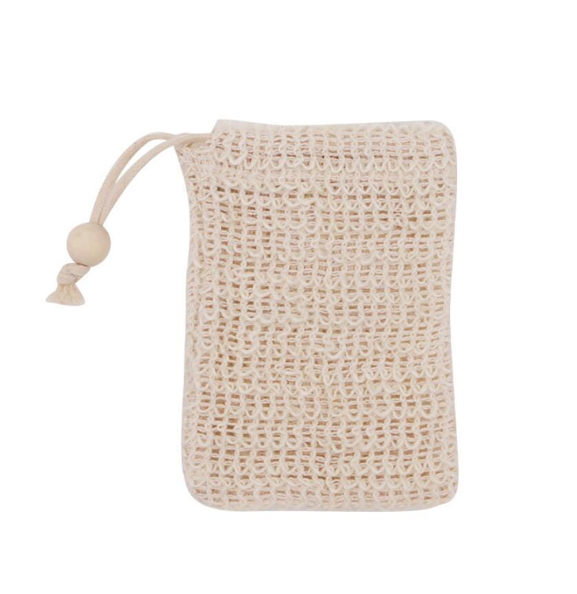 2021 Natural Exfoliating Mesh Soap Saver Sisal Soap Saver Bag Pouch Holder For Shower Bath Foaming And Drying