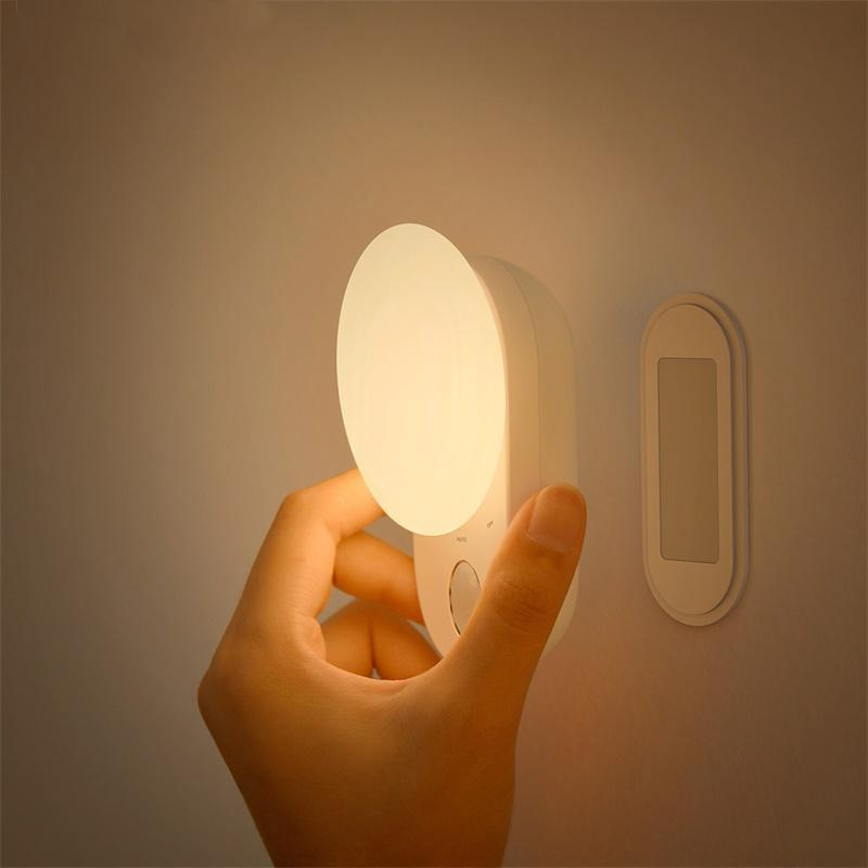 Night Lights Dropship LED Magnetic Motion Sensor Light Indoor USB Rechargeable Wall Lamps Decor Moon Lamp For Bedroom & Depot