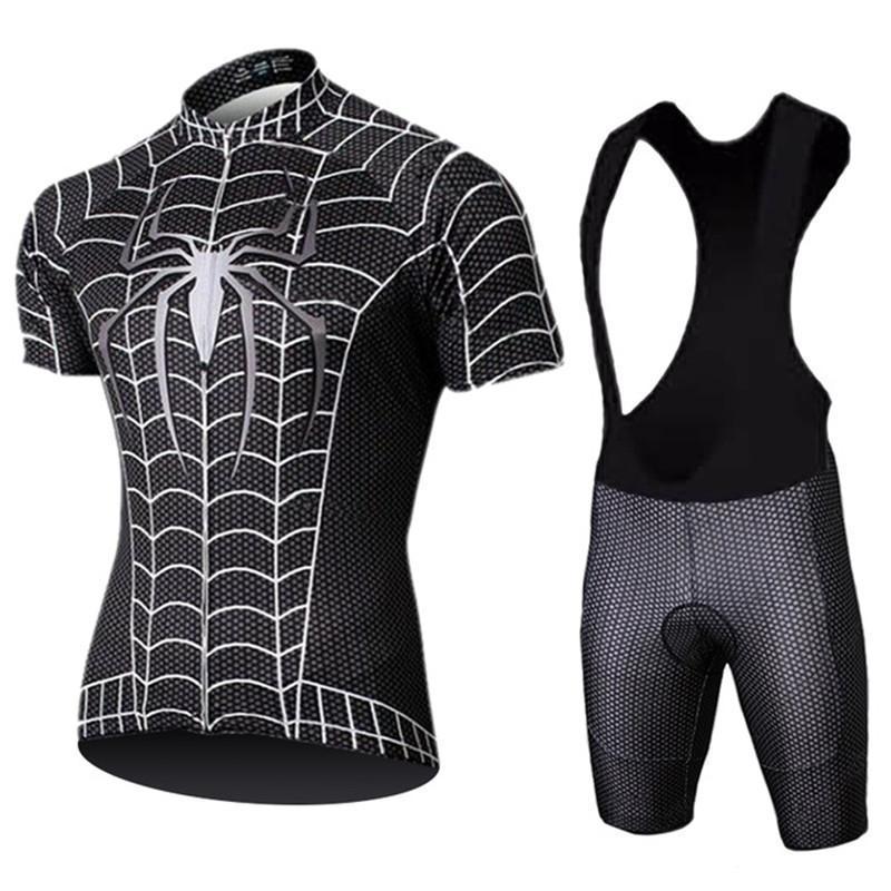 Гоночные наборы Велоспорт Джерси Набор 2021 Летний мужской Черный Anti-UV Велосипед Одежда быстрый Горный Велосипед Pro Команда Одежда