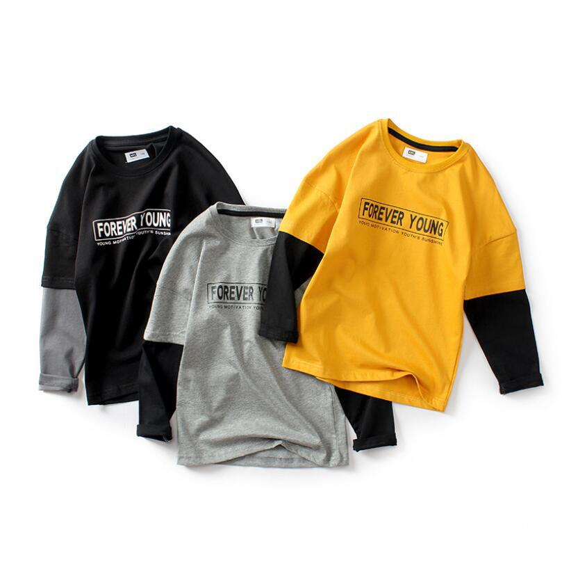 Fashion Spring Autumn Children T-shirts Long Sleeve Striped T shirts Casual Kids Clothing 5-12Y