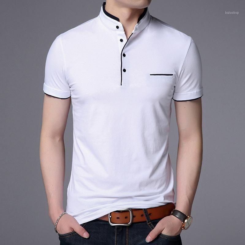 Abbigliamento uomo camicia uomo business casual solido camicia maschio manica corta alta qualità puro cotone sottile slim camisa polos1