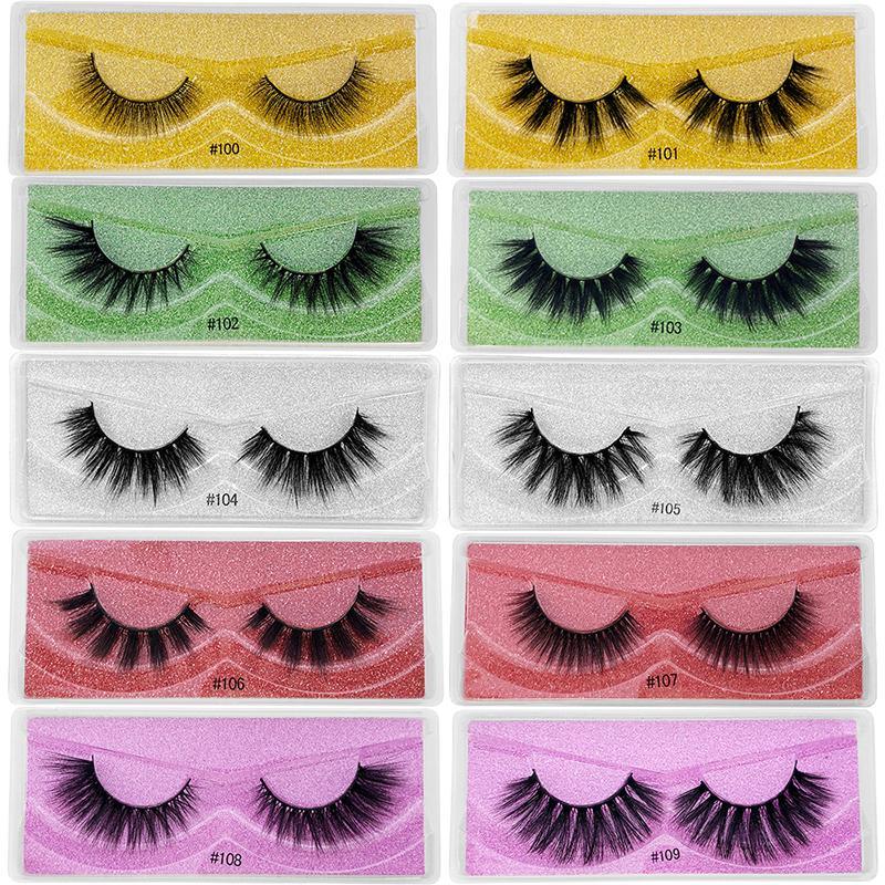 Großhandel Wimpern 3D Mink Wimpern Natürliche Nerz Wimpern Wimpern Großhandel Falsche Wimrichen Make-up Falsche Wimpern in der Masse