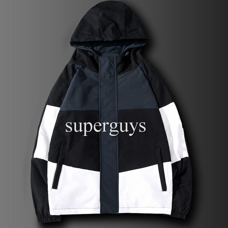 Мужская куртка хип-хоп Windbreaker мода весна осень повседневные куртки мужчины женские уличные одежды верхняя одежда HIP хоп куртки JK2101