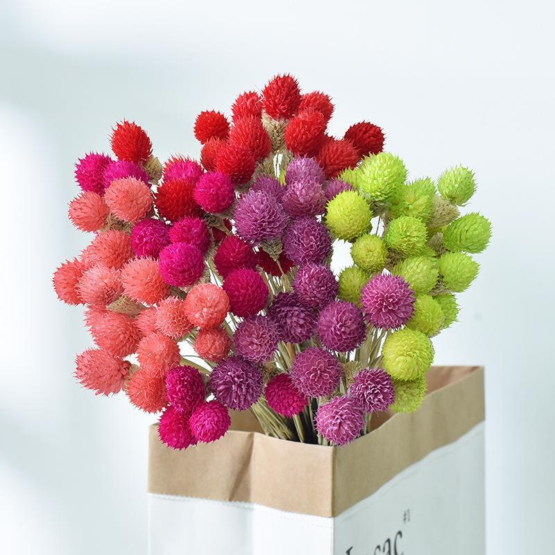 Decorative Flowers & Wreaths 15Pcs Dried Flower Bouquets Artificial Colorful Strawberries Grass Handmade Home Decor DIY Handicraft