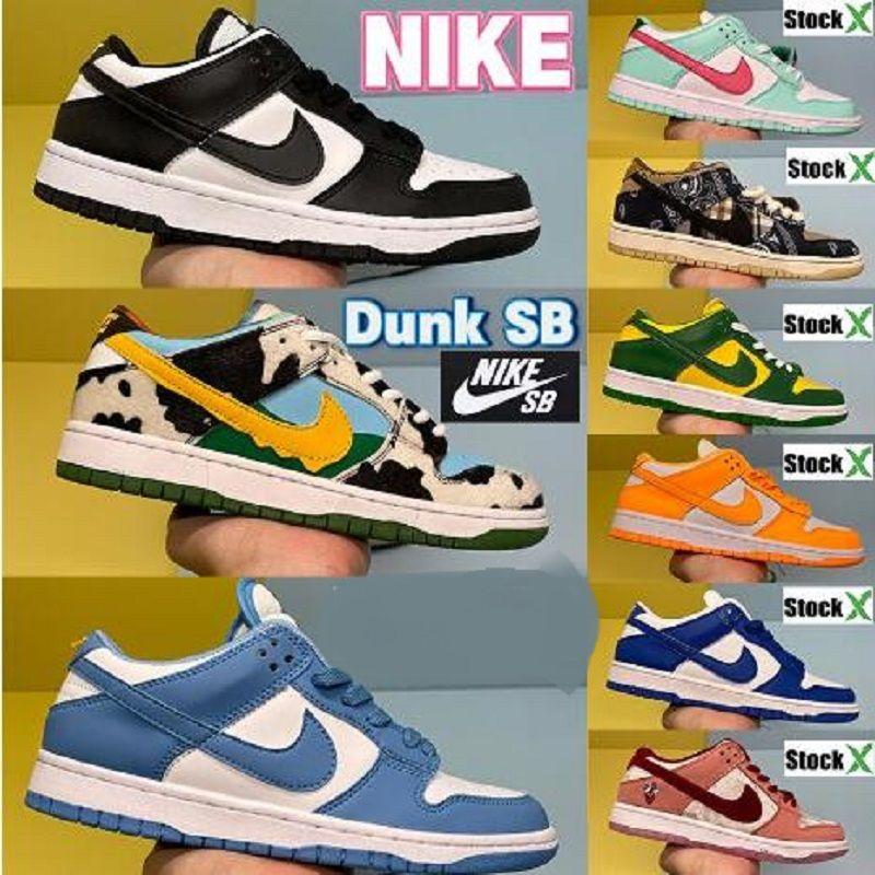 نايك SB dunks دونك منخفضة الرجال النساء الأحذية مصنع حذاء رياضة ليمون قطرة أسود أبيض جامعة بلو كوست الأخضر توهج رجل مدرب الحذاء