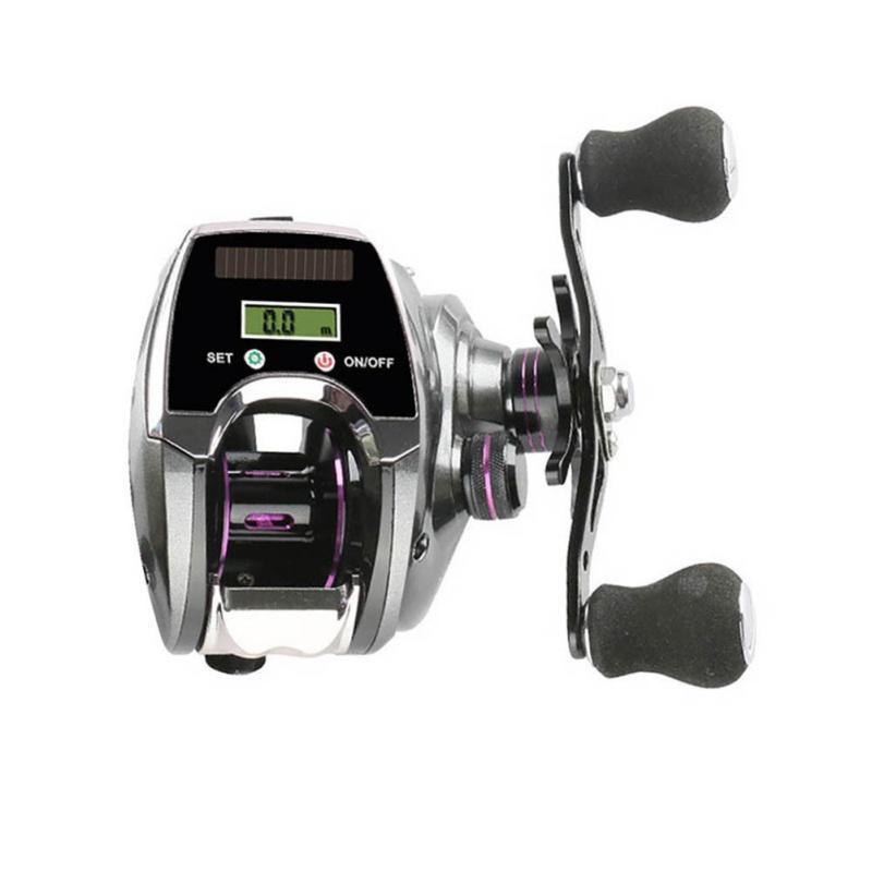 Baitcasting Reels 6 + 1 Rulman Yem Döküm Balıkçılık Reel Dijital Ekran Tekerlek Lure Dişli Çubuk Hattı
