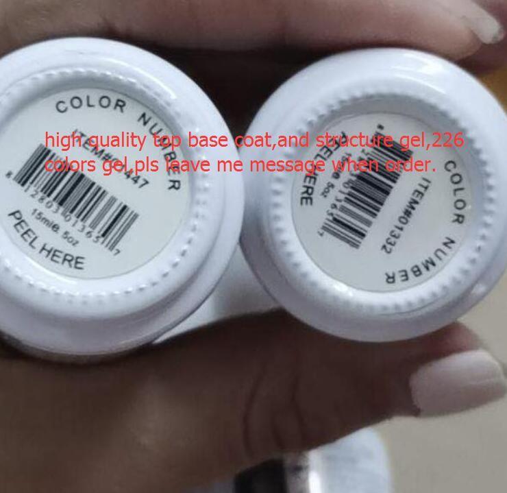 2021 Hohe Qualität Gelpolish Sweak Off Nagel Gel Polnisch Nail art Gel Lack LED / UV Base Coat Foundation Top Mantel 226 Farben