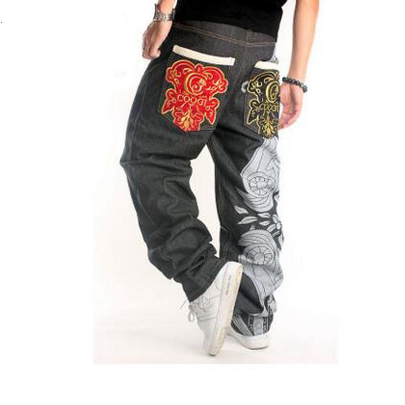Manszange Boyutu 2021New 30-44 Hip Hop Ünlü Tasarımcı Markaları Yüksek Kalite Denim Kaykay Erkekler BHD0