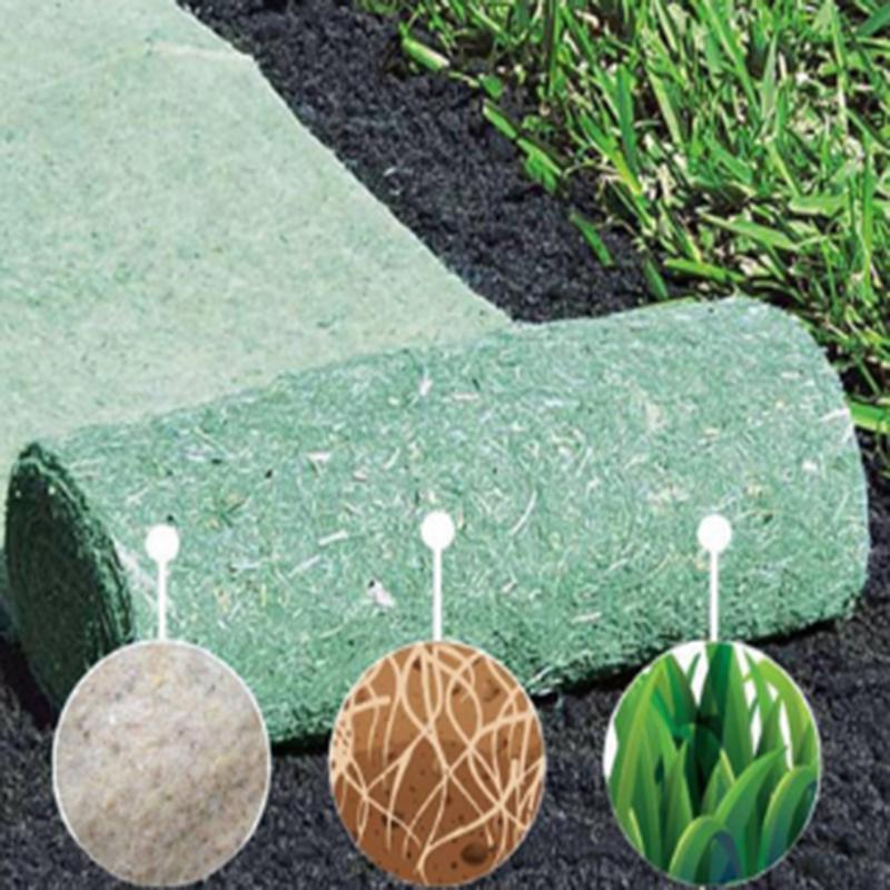 Decorative Flowers & Wreaths 3M*0.2M/10M*0.2M Selling Biodegradable Seed Starter Mat Grass Carpet Garden Supplies