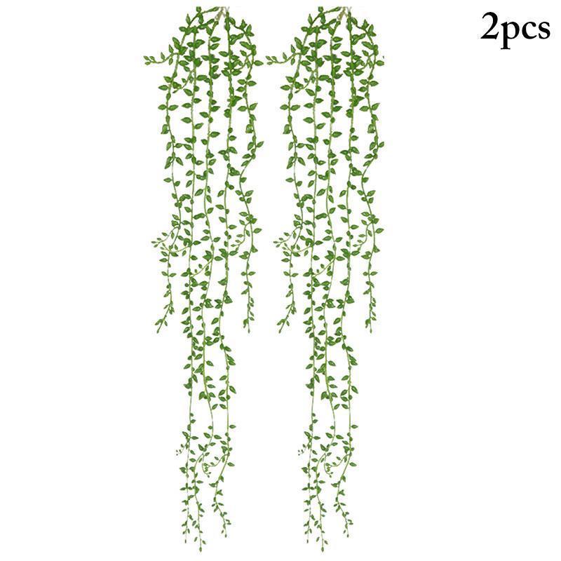 Fleurs décoratives couronnes 2pcs vigne artificielle suspendu fausse plante verte verte ivy feuille maison décoration de mariage