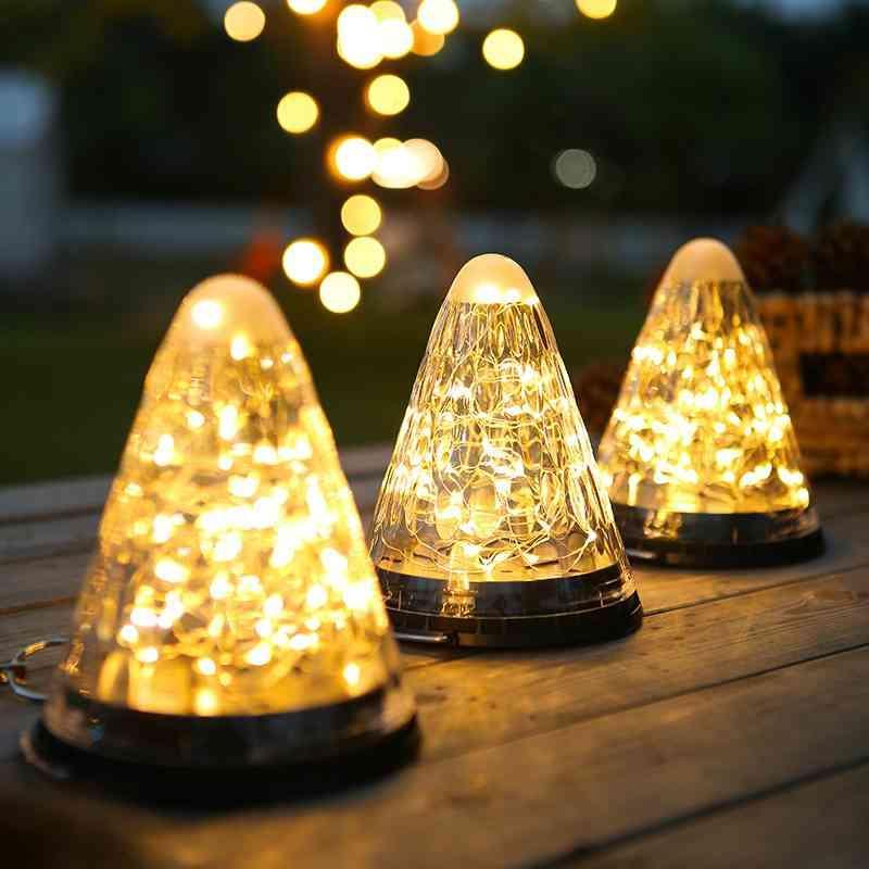 LED solar Jardín al aire libre S Adorno Linterna Guirnalda Patio Decoración Luz de hadas Decoración navideña