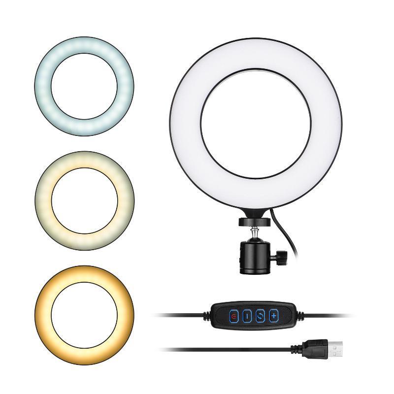 16 см / 6 дюймов Мини Светодиодный кольцевой свет заполнения лампы USB Powered 11 уровней регулируемая яркость для прямой трансляции онлайн-видео
