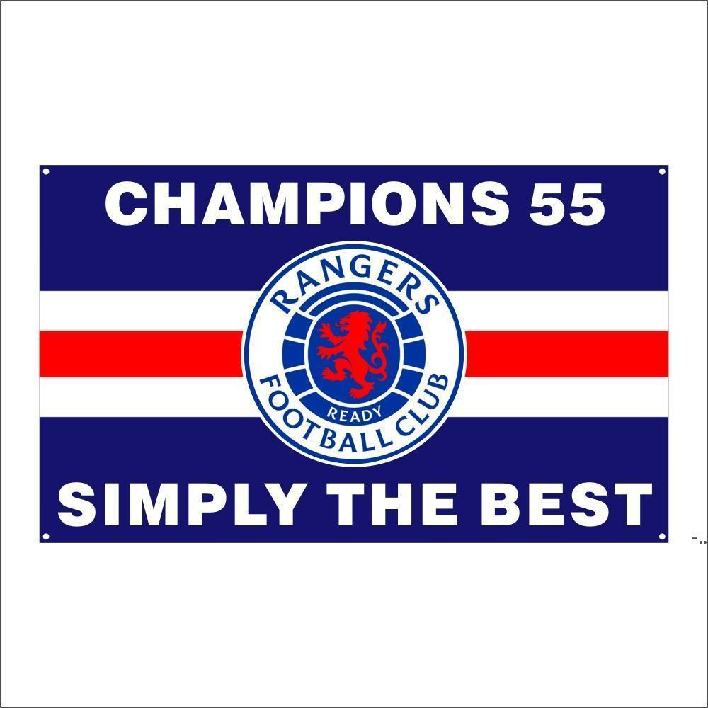 KOSTENLOSER DHL-Versand Kundenspezifische Flagge 3X5FT / 90x150cm Ranger Fußballverein FC Loyal Champions 55 Flaggen Banner für den Außensport DHD5394