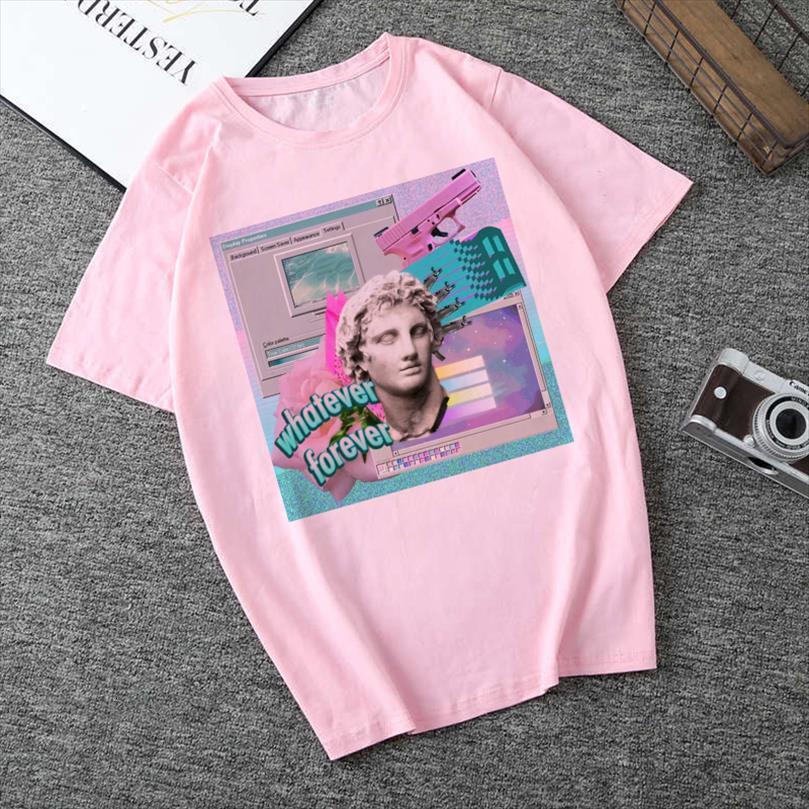 And Women Clothing David Mens T Shirts Vaporwave Aesthetics Art Kpop Harajuku Vintage Streetwear Tracksuit Personality Female