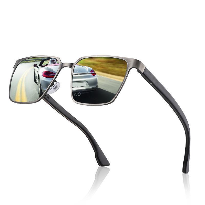 النظارات الشمسية الرجال والنساء ساحة الخشب المعادن الاستقطاب hd uv حماية القيادة نظارات الصيد البصرية وصفة sunglasse037
