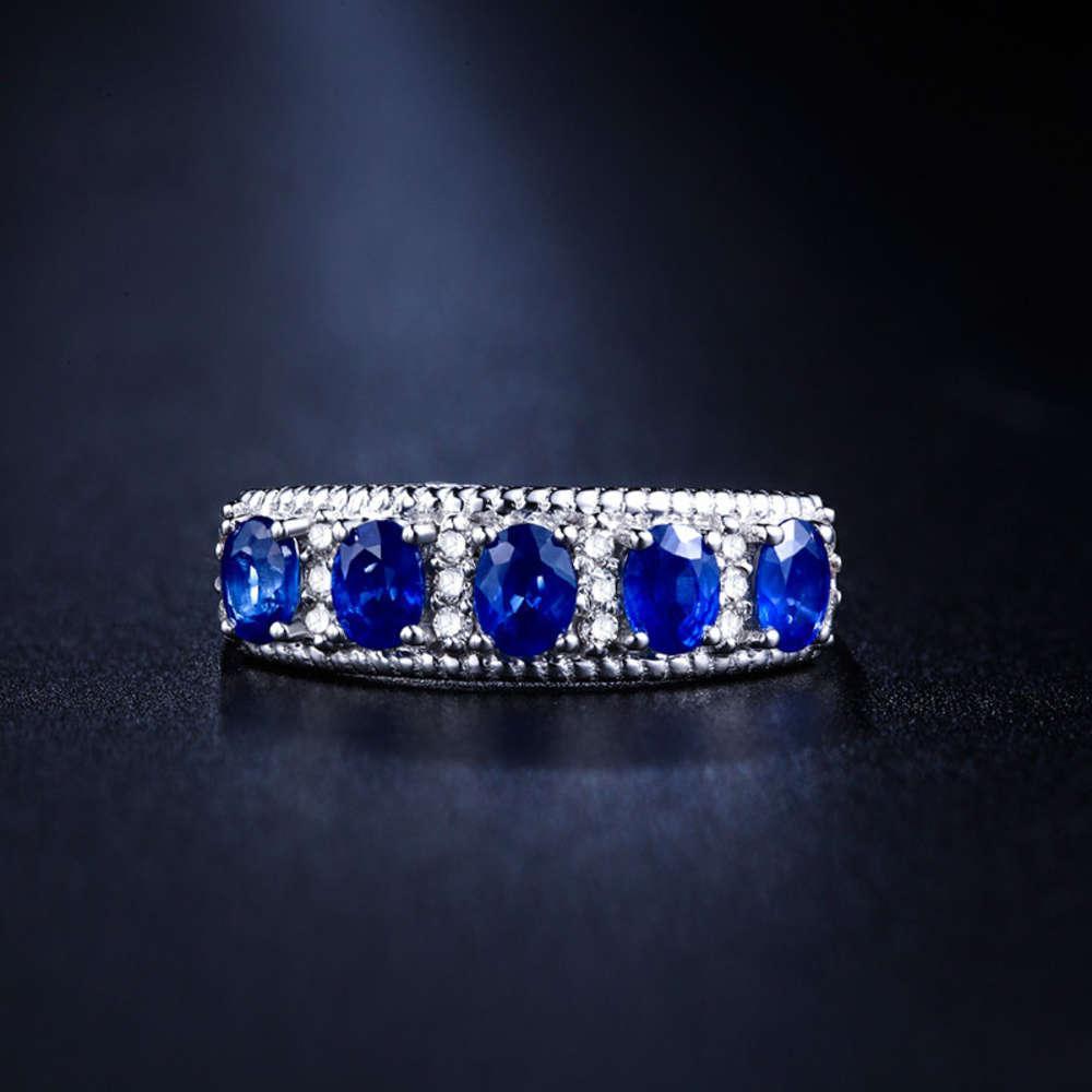 HBP Fashion Luxus Beste Verkaufsring für Damen Kupfer-Platin-Blau-Spinell-Hand-Verzierung