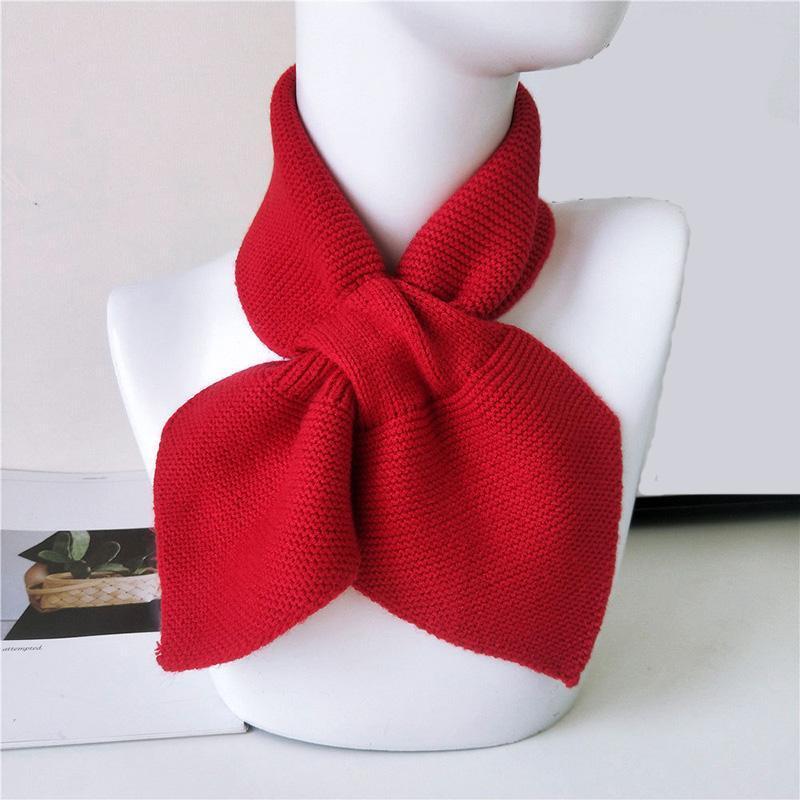 Шарфы мода маленький лук рыбный уступ для женщин винтажные сладкие вязаные теплые шалики шарф и обертка леди девушка красочная зима